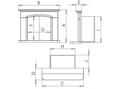Sienna Agean  Limestone Fireplace With Reeded Chamber