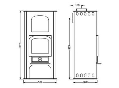 Clearview Pioneer Oven Multifuel Stove