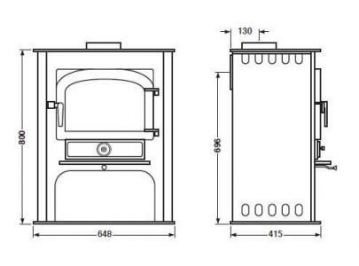 Clearview Solution 500 Multifuel Logstore Stove