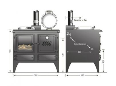 Esse Ironheart Wood Burning / Multi Fuel Range Cooker