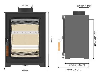 Parkray Aspect 4 Compact Defra Wood Burning Stove