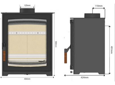 Parkray Aspect 5 Approved Wood Burning Stove - Ecodesign Ready
