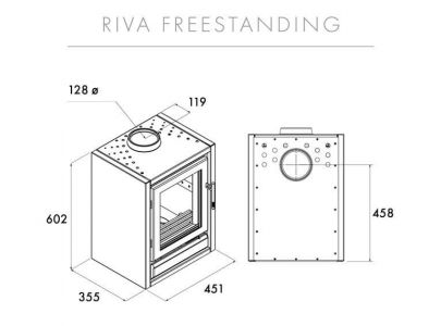 Special Offer - Stovax Riva F40 Wood Burning Stove