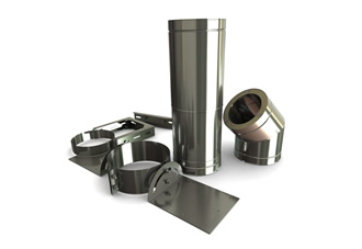 5 Inch (125mm) Silver Twin Wall Flue