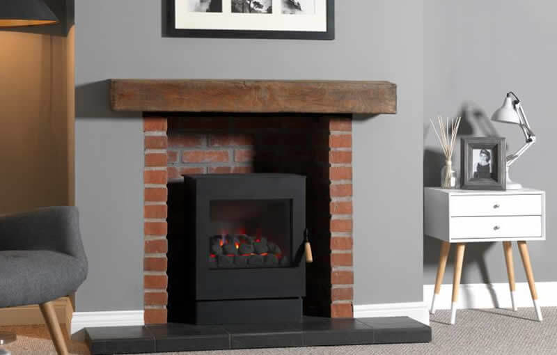 Burley Balanced Flue Gas Stove - Symmetry gas stove with coal fuel bed