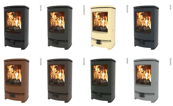 The new Charnwood Arc stove colour finish options