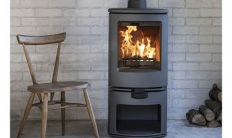 The new Charnwood Arc Multifuel stove with logstand