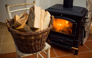traditional wood stove