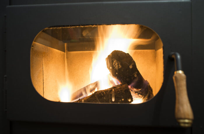 wood stove with an air vent