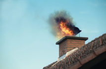 house with chimney fire