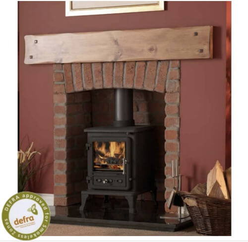 Firefox 5 Cleanburn Defra Approved Wood Burning Multi Fuel Stove