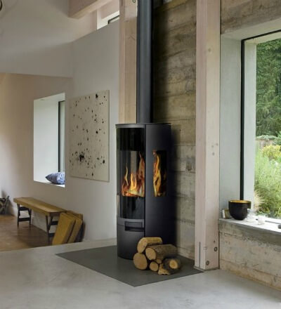 Contemporary Wood Burning Stoves - AGA Dorrington DEFRA Approved Wood Burning Stove