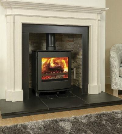 Contemporary stove - Newbourne 40FS Direct Air Eco Design Stove