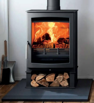 Contemporary wood burning stoves - Parkray Aspect 5 Defra Approved Wood Burning Stove