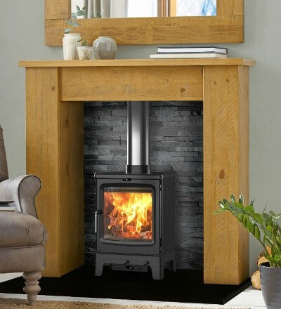 Contemporary wood burning stove - Saltfire Peanut 5 Wood Burning & Multi-Fuel Eco Design Stove