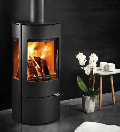 Contemporary Wood Burning Stoves: Westfire Uniq 37 Defra Approved Wood Burning Stove