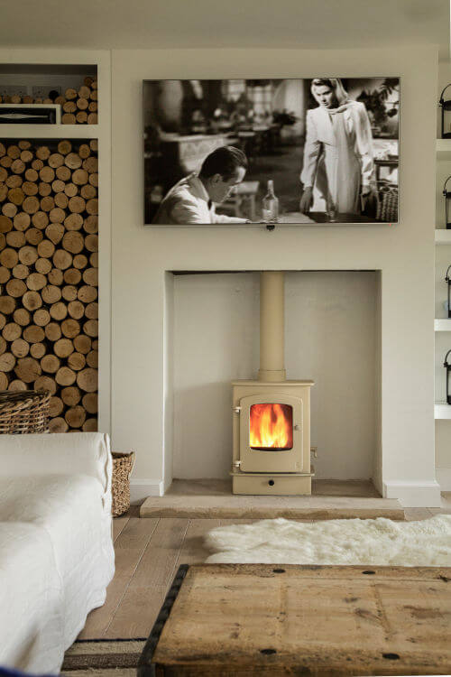 Charnwood stove in living room