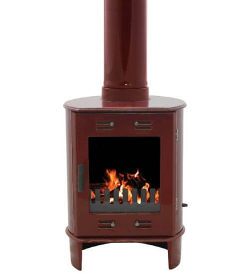 Carron Dante Red Enamel 5kW Multifuel DEFRA Approved Stove