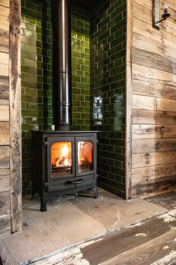 Charnwood Island II Stove at the Pig Hotel