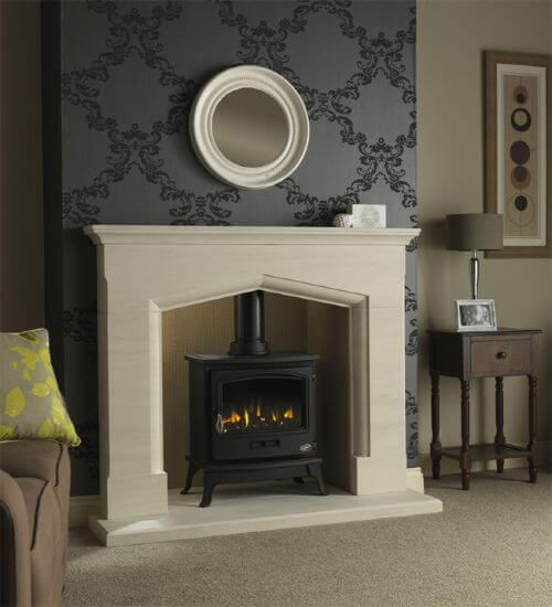 Axon Coniston Limestone Fireplace With Reeded Limestone Chamber