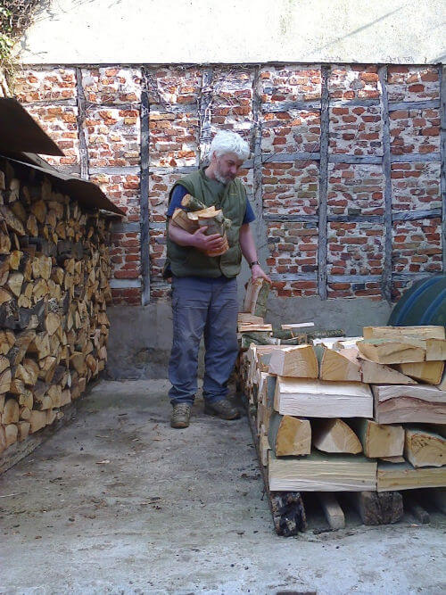 Vincent Thurkettle identifying firewood