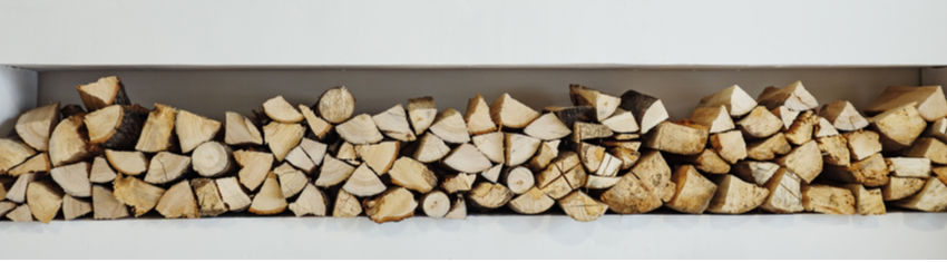 Row of firewood