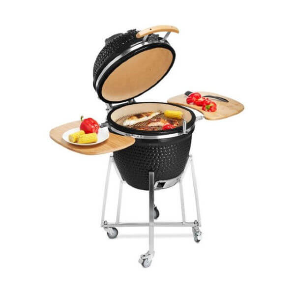 Buschbeck XL Kamado Barbecue Grill with Pizza Stone