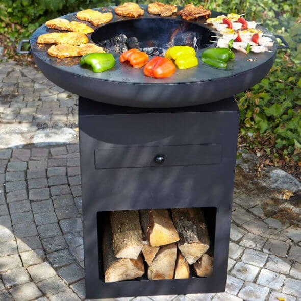 Buschbeck Yurok Large Fire Pit Plancha Grill