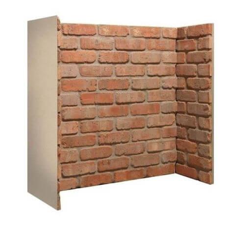 Rustic Brick Fireplace Chamber