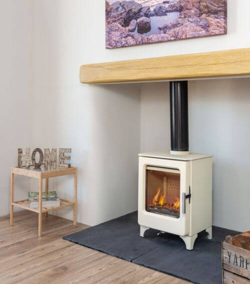Mendip Ashcott Ivory Defra Approved Wood Burning Stove