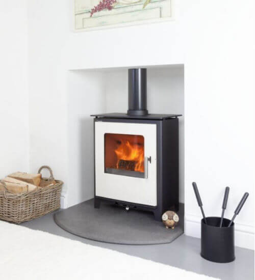 Mendip Loxton 5 Ivory SE Defra Approved Wood Burning - Multi Fuel Stove