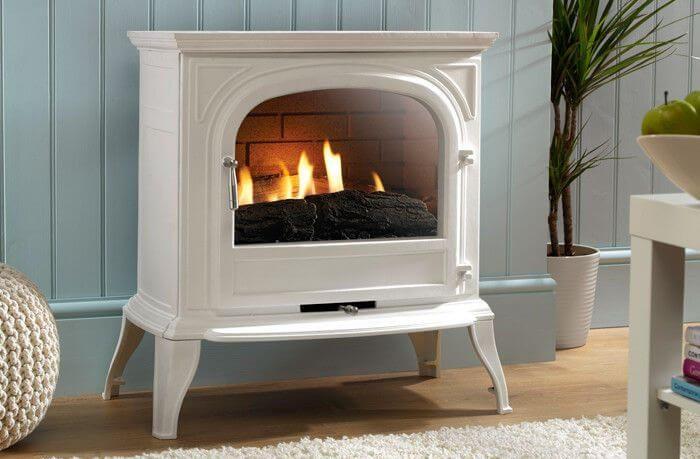 Eko Fires 6010 White Flueless Gas Stove