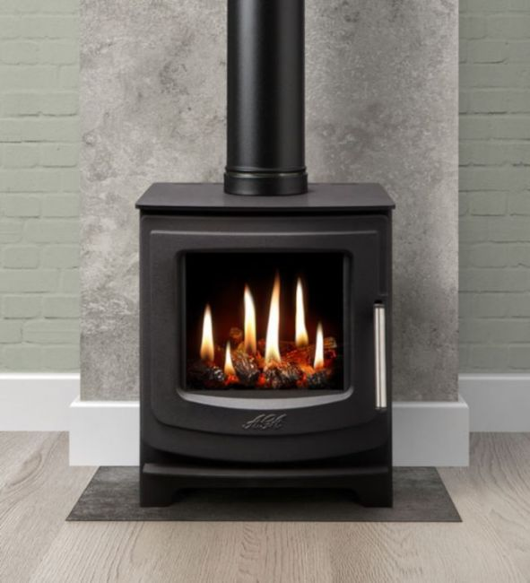 The AGA Ellesmere EC5 Balanced Flue Gas Stove is the ideal option if your home doesn't have a chimney
