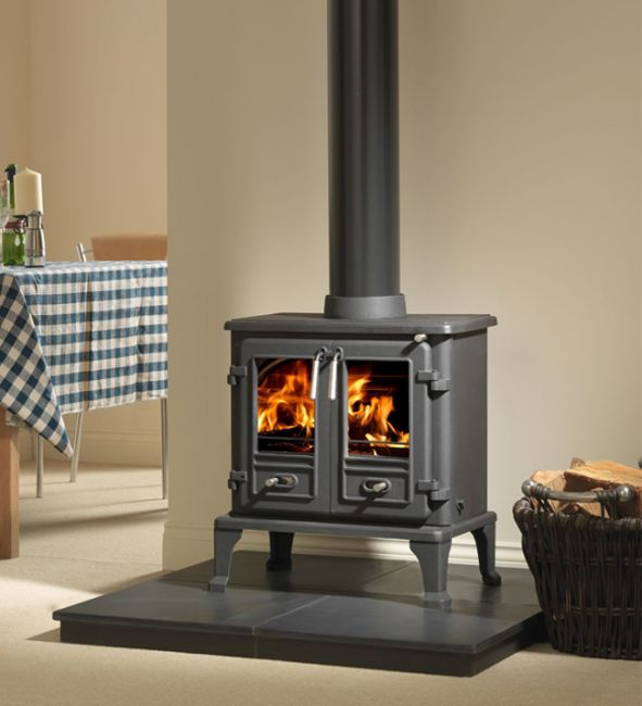 The Firefox 8 is the solution for those looking for a modern twin door stove