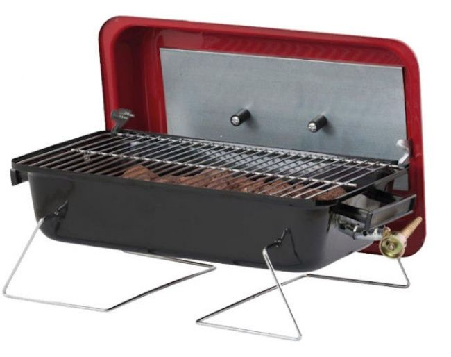 The Lifestyle Portable Gas Barbecue is the perfect option for grilling on the go