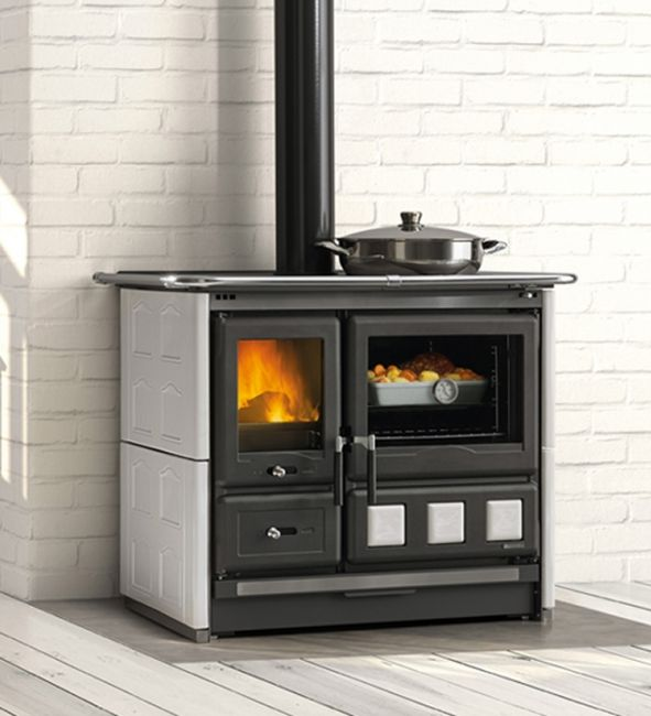 La Nordica Rosa XXL Majolica Wood Burning Range Cooker