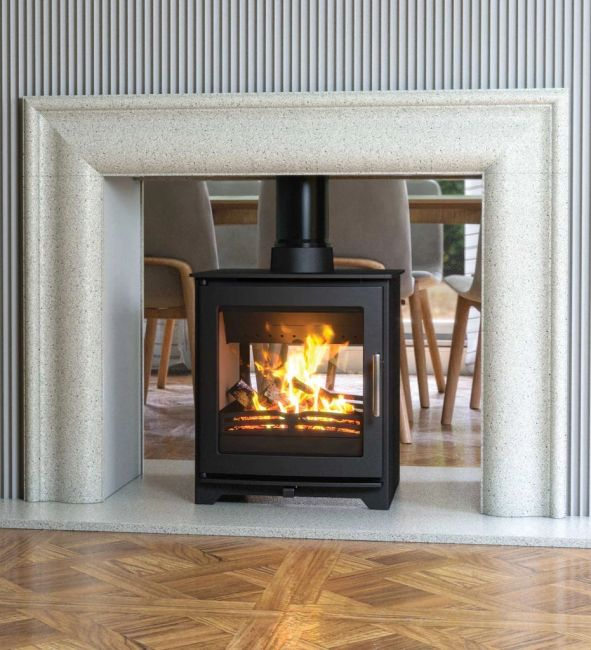 Henley Dalewood DEFRA Approved Wood Burning Double Sided Stove