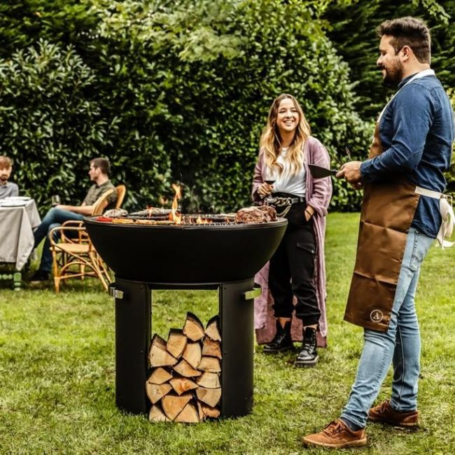 Hergom Firepit Outdoor Plancha Grill High Base