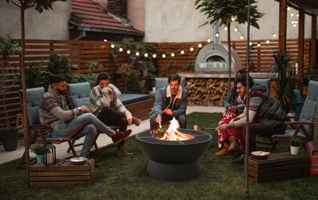 Hergom Firepit Outdoor Plancha Grill Low Base