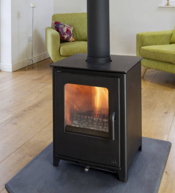 Mendip Loxton 8 Defra Approved Double Sided Wood Burning Multi Fuel stove