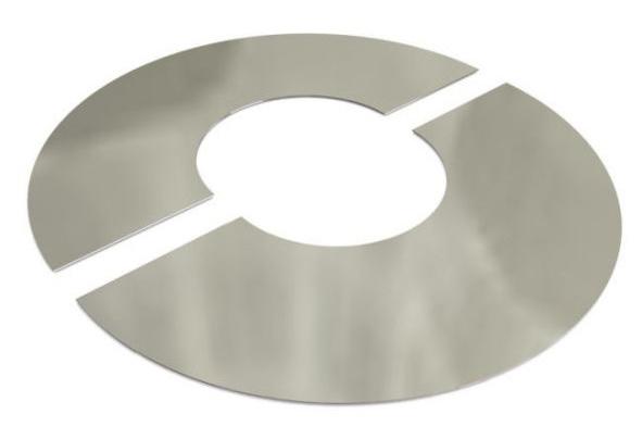 Dura Flue 0 Degree Finishing Plate in Stainless Steel